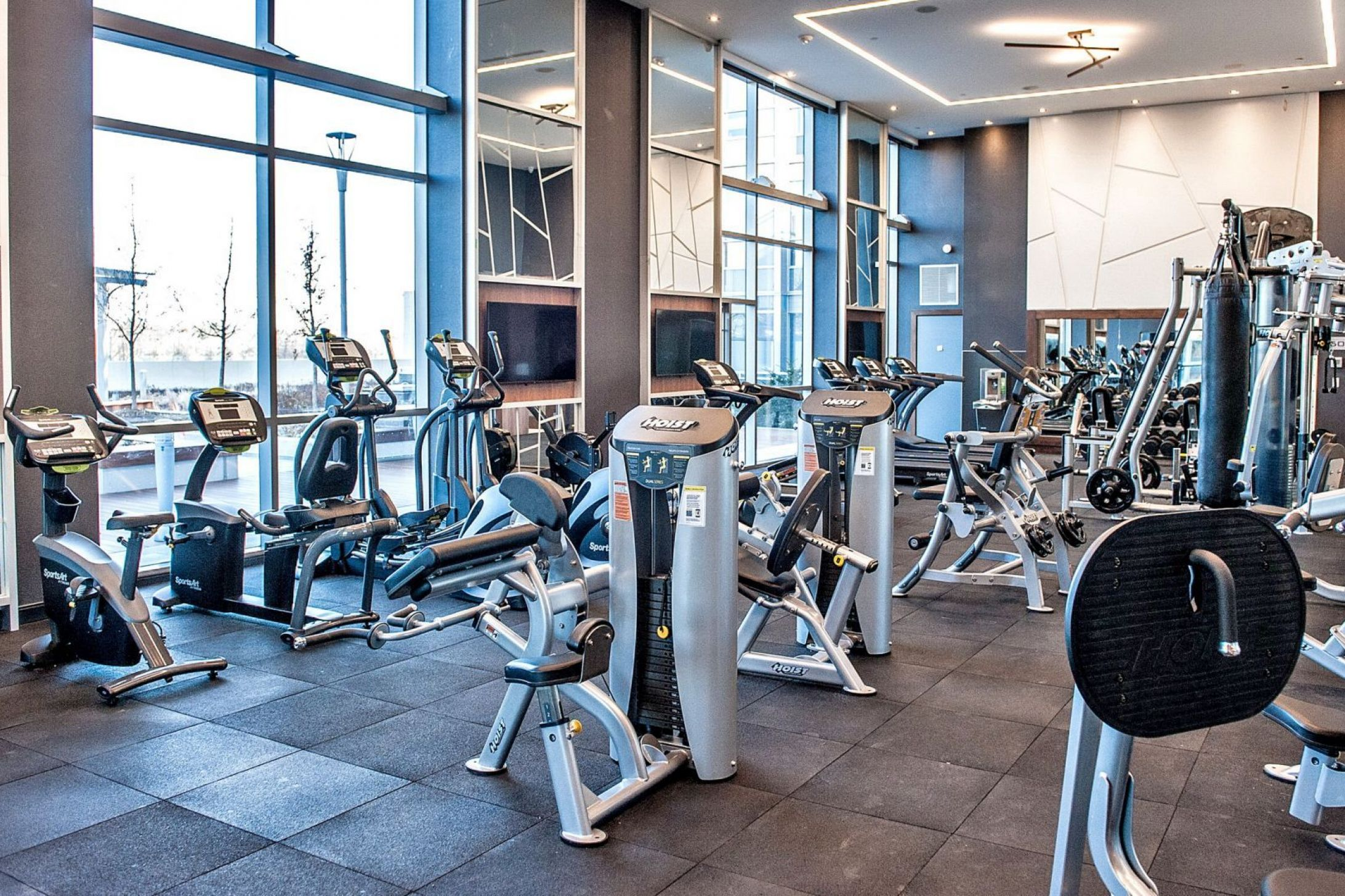 Gym at one of the Metrogate Condos Avani