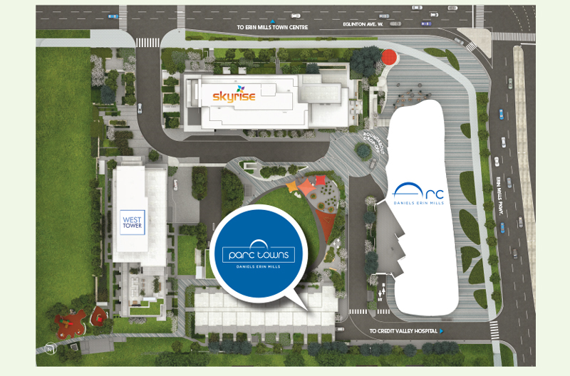 Parc Towns at Daniels Erin Mills